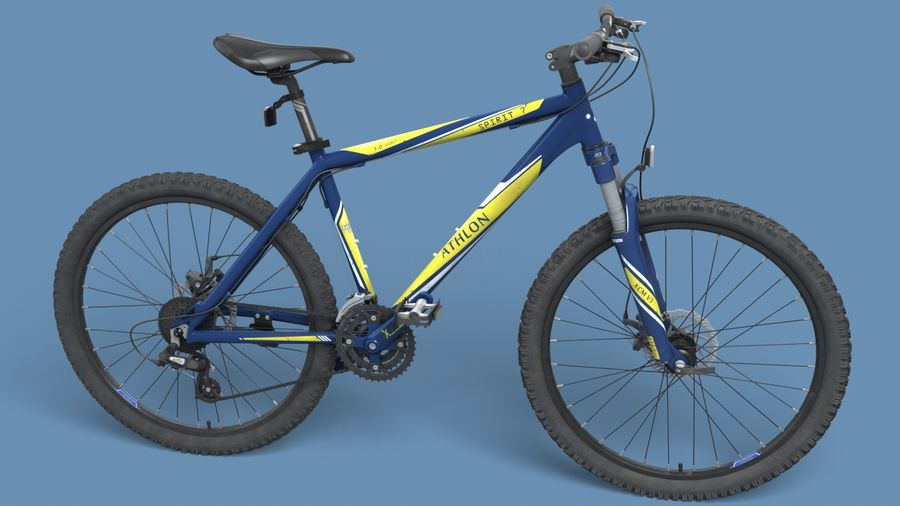Mountainbike royalty-free 3d model - Preview no. 10