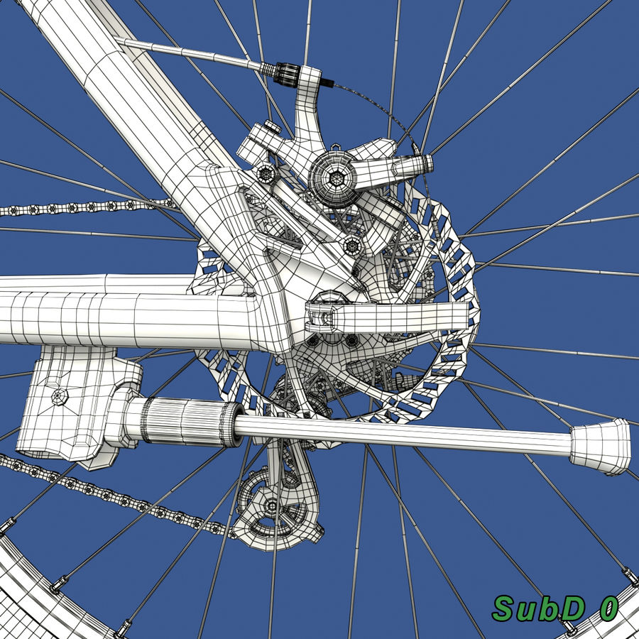 Mountainbike royalty-free 3d model - Preview no. 19