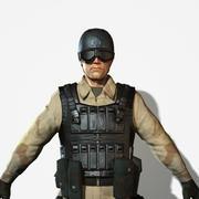 Żołnierz Delta Force 3d model