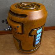 桶式容器生物危害气体液体 3d model
