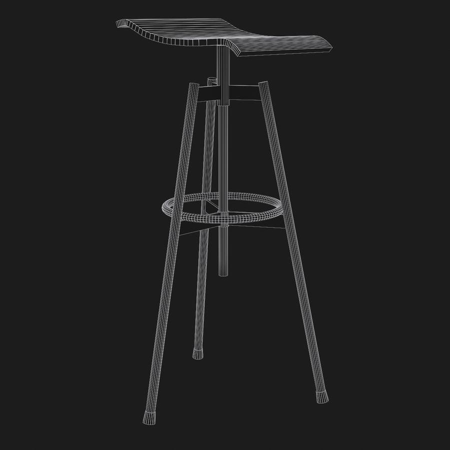 Stołek Bar royalty-free 3d model - Preview no. 7