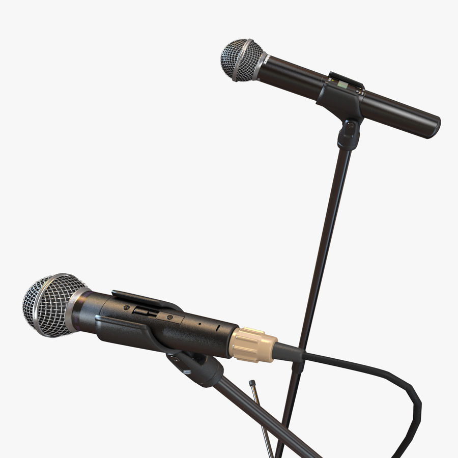 Shure SM58 Microphones royalty-free 3d model - Preview no. 13