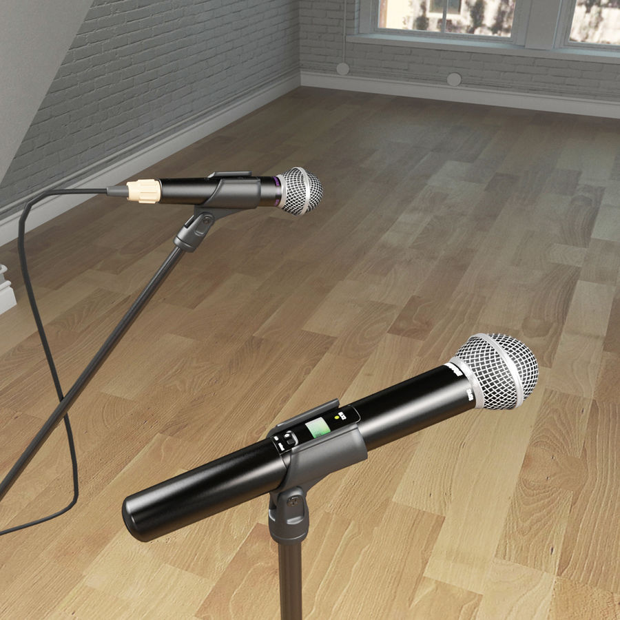 Shure SM58 Microphones royalty-free 3d model - Preview no. 2
