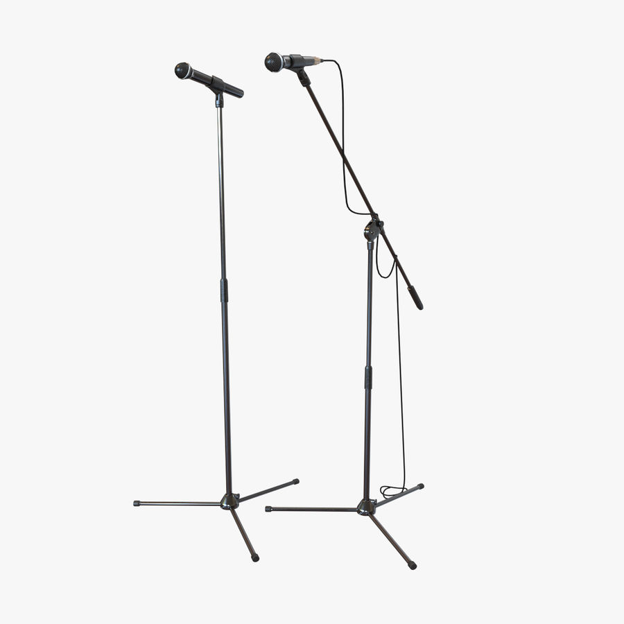 Shure SM58 Microphones royalty-free 3d model - Preview no. 5