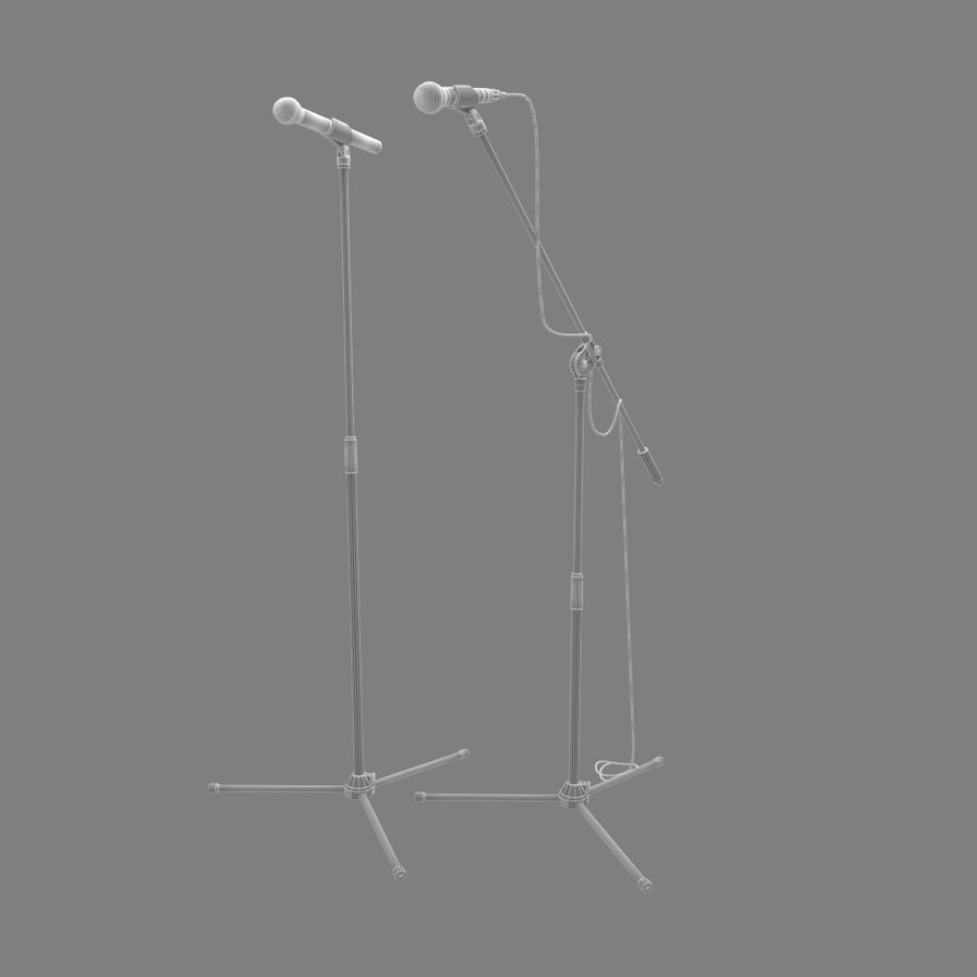 Shure SM58 Microphones royalty-free 3d model - Preview no. 8