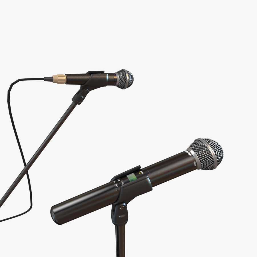 Shure SM58 Microphones royalty-free 3d model - Preview no. 1