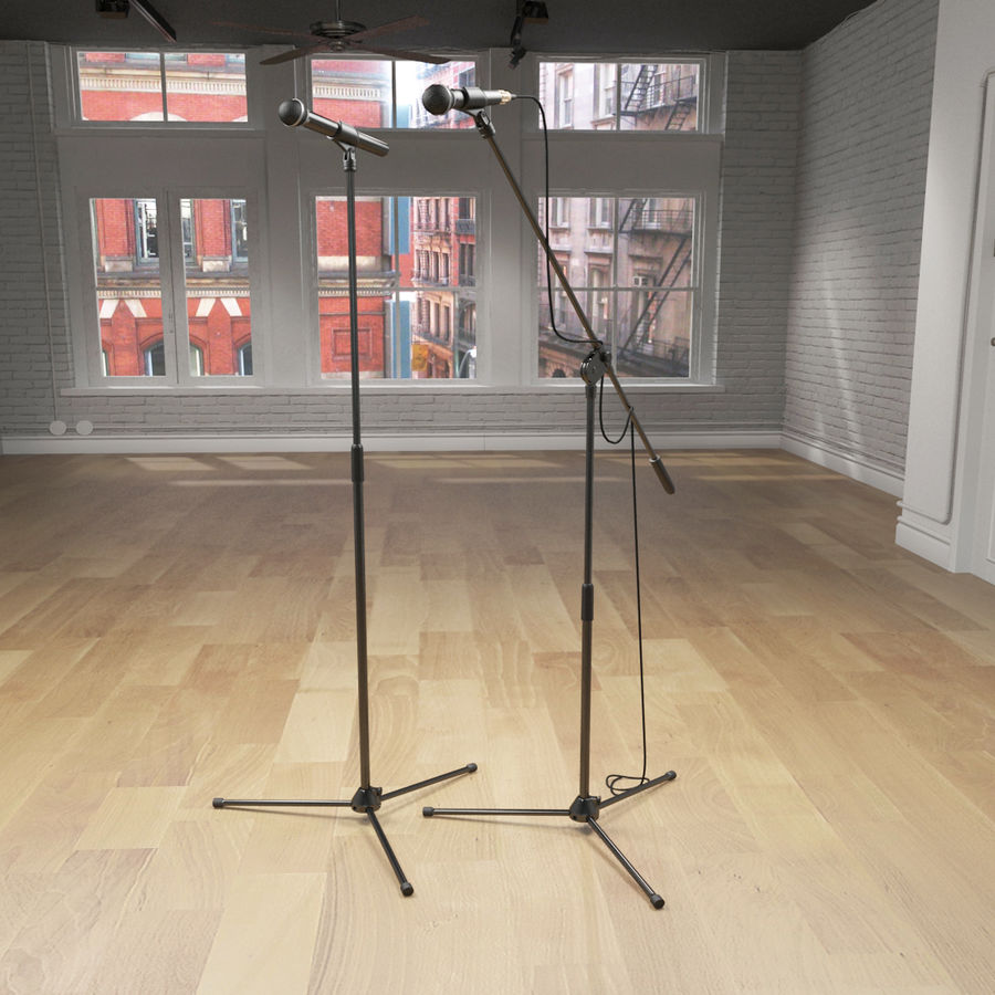 Shure SM58 Microphones royalty-free 3d model - Preview no. 6