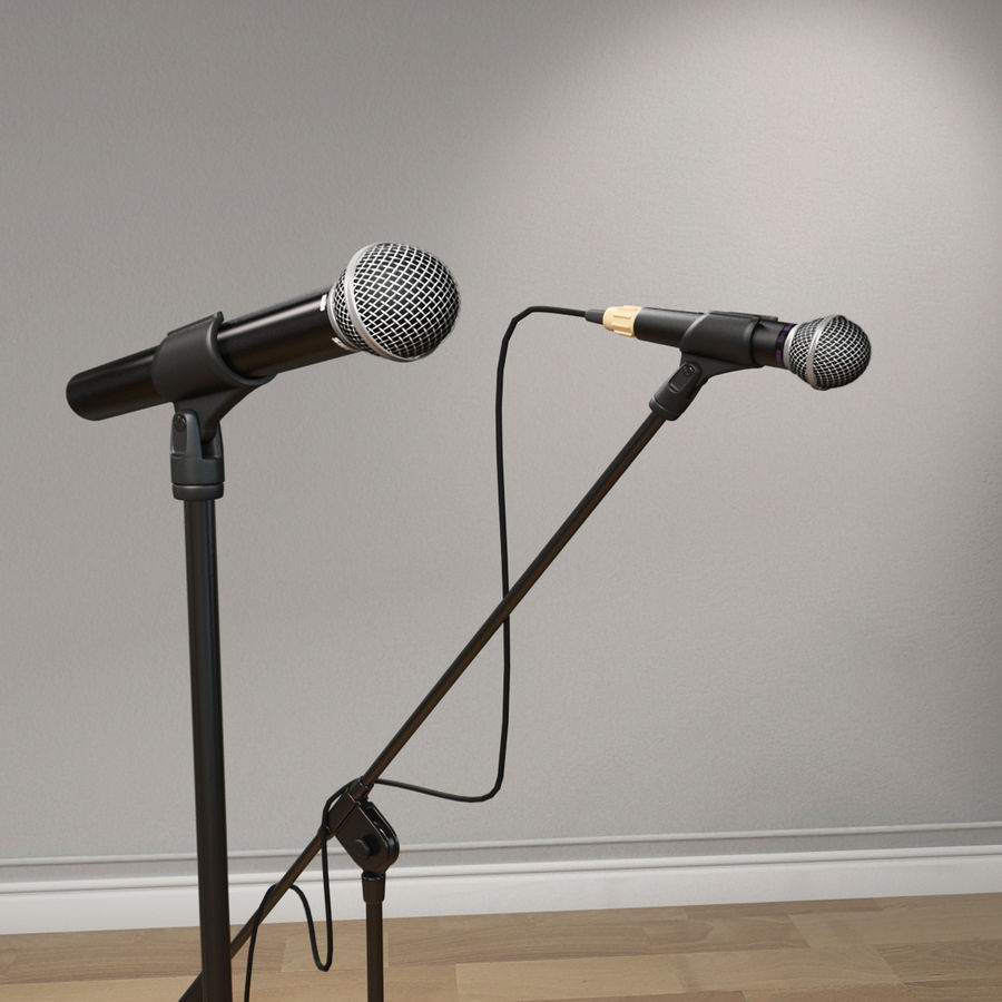 Shure SM58 Microphones royalty-free 3d model - Preview no. 10
