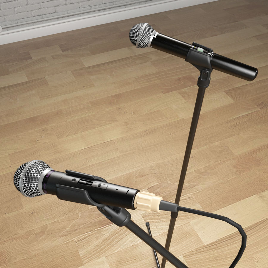Shure SM58 Microphones royalty-free 3d model - Preview no. 14