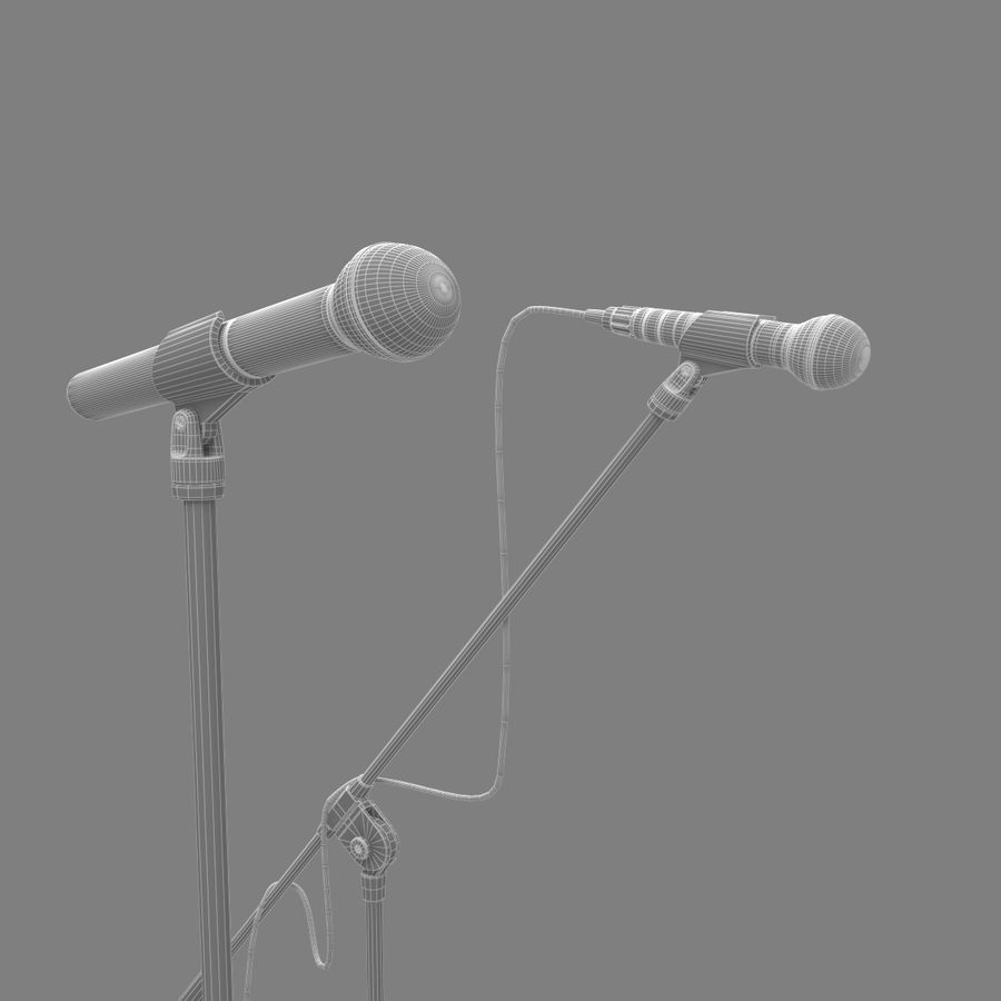 Shure SM58 Microphones royalty-free 3d model - Preview no. 12
