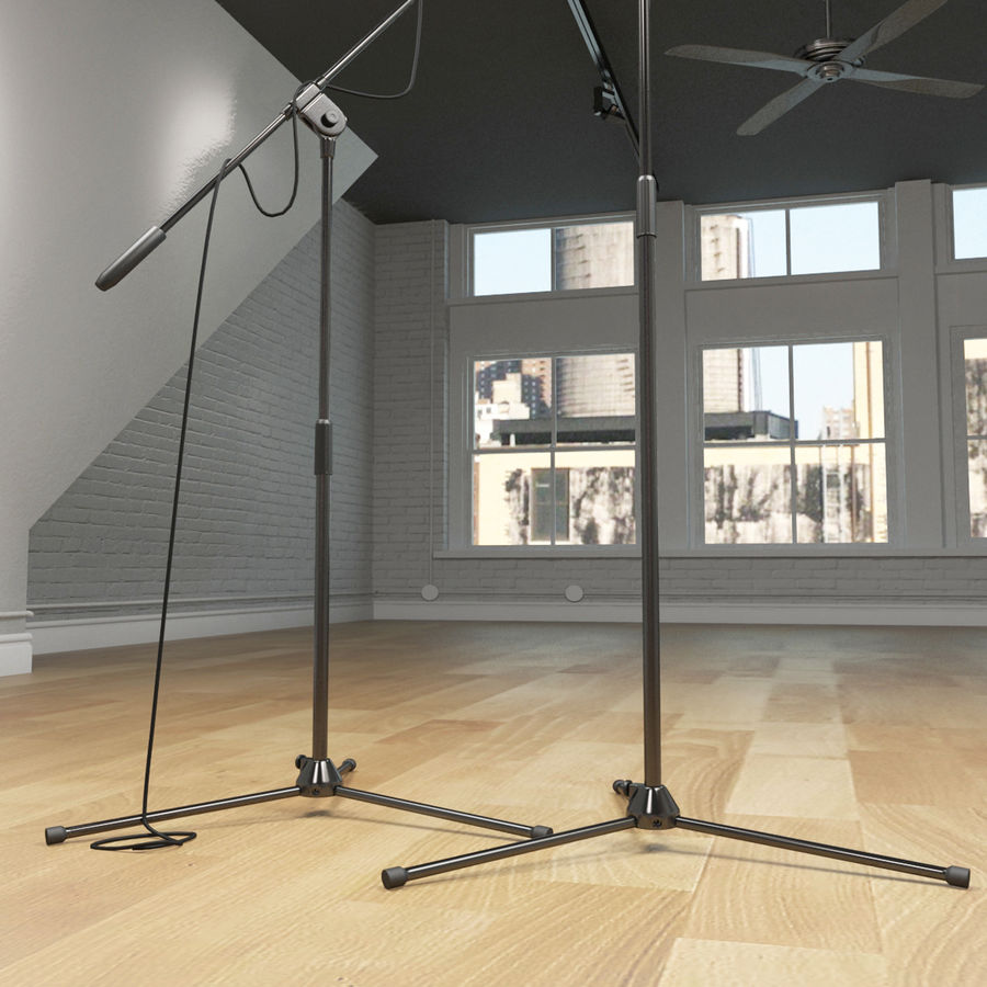 Shure SM58 Microphones royalty-free 3d model - Preview no. 17