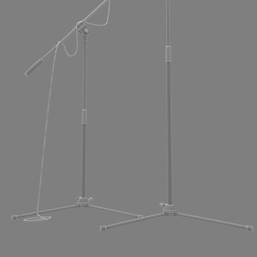 Shure SM58 Microphones royalty-free 3d model - Preview no. 20