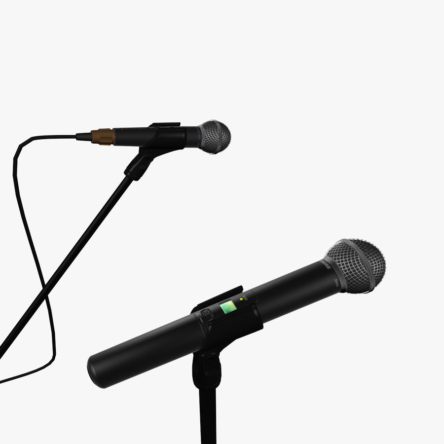 Shure SM58 Microphones royalty-free 3d model - Preview no. 3