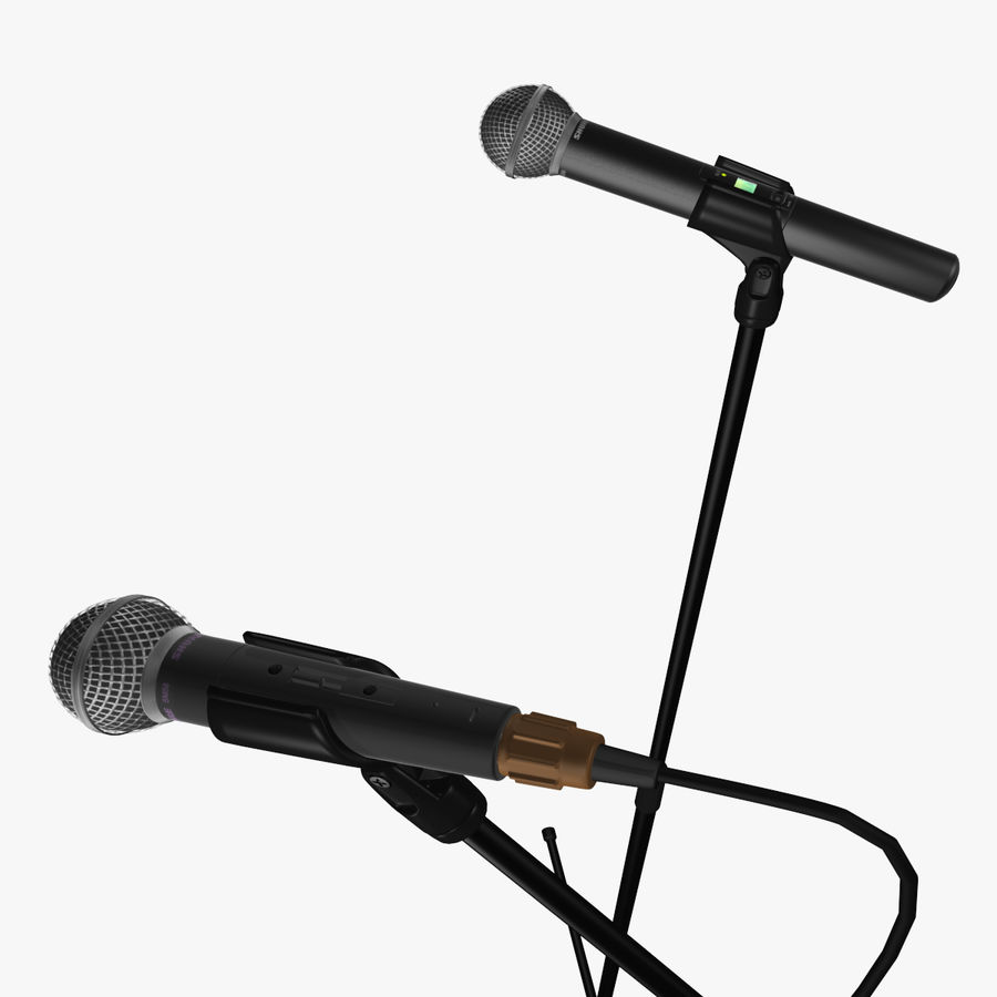 Shure SM58 Microphones royalty-free 3d model - Preview no. 15