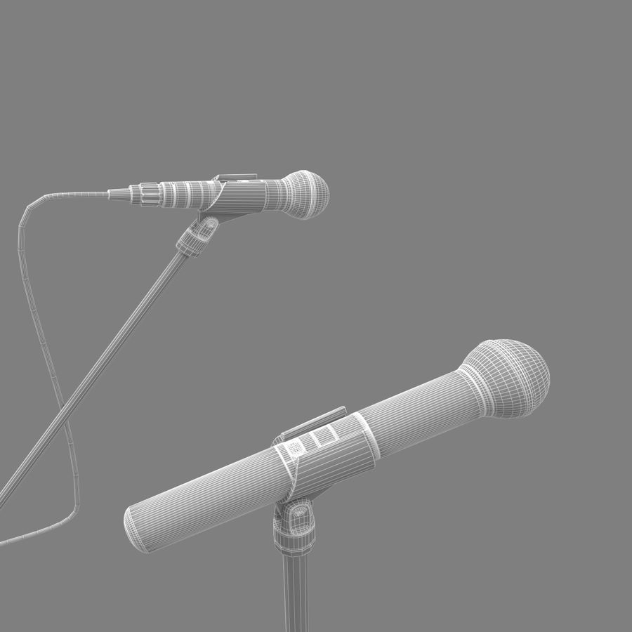 Shure SM58 Microphones royalty-free 3d model - Preview no. 4