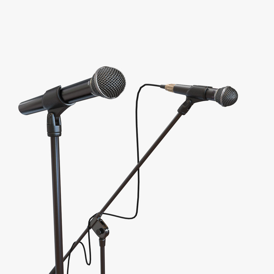 Shure SM58 Microphones royalty-free 3d model - Preview no. 9