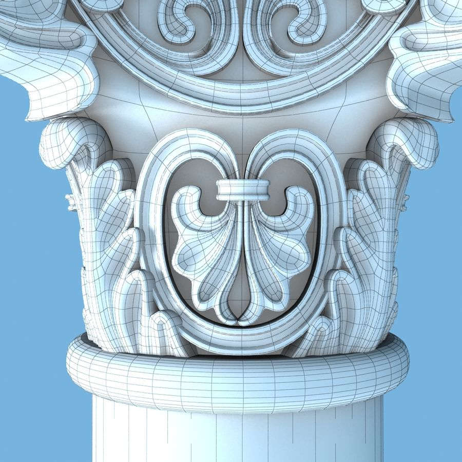 Capital-1 royalty-free 3d model - Preview no. 9