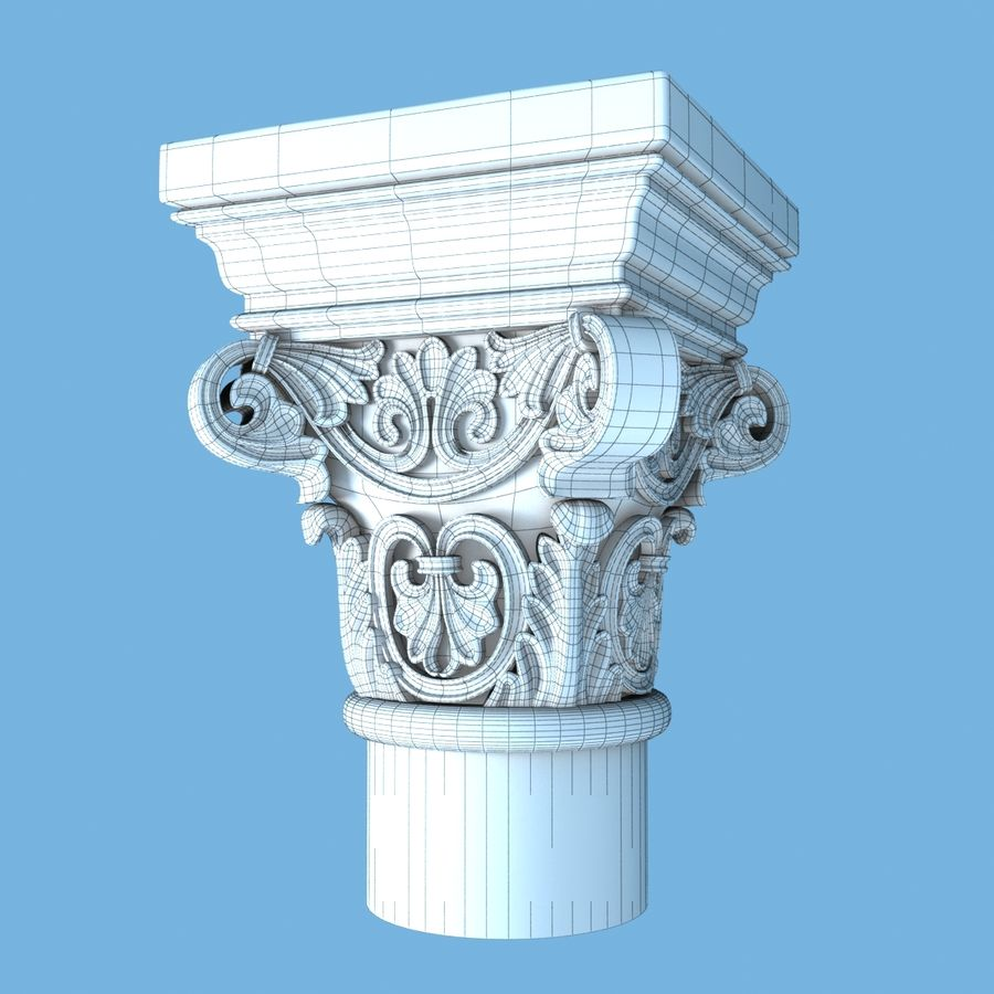 Capital-1 royalty-free 3d model - Preview no. 8