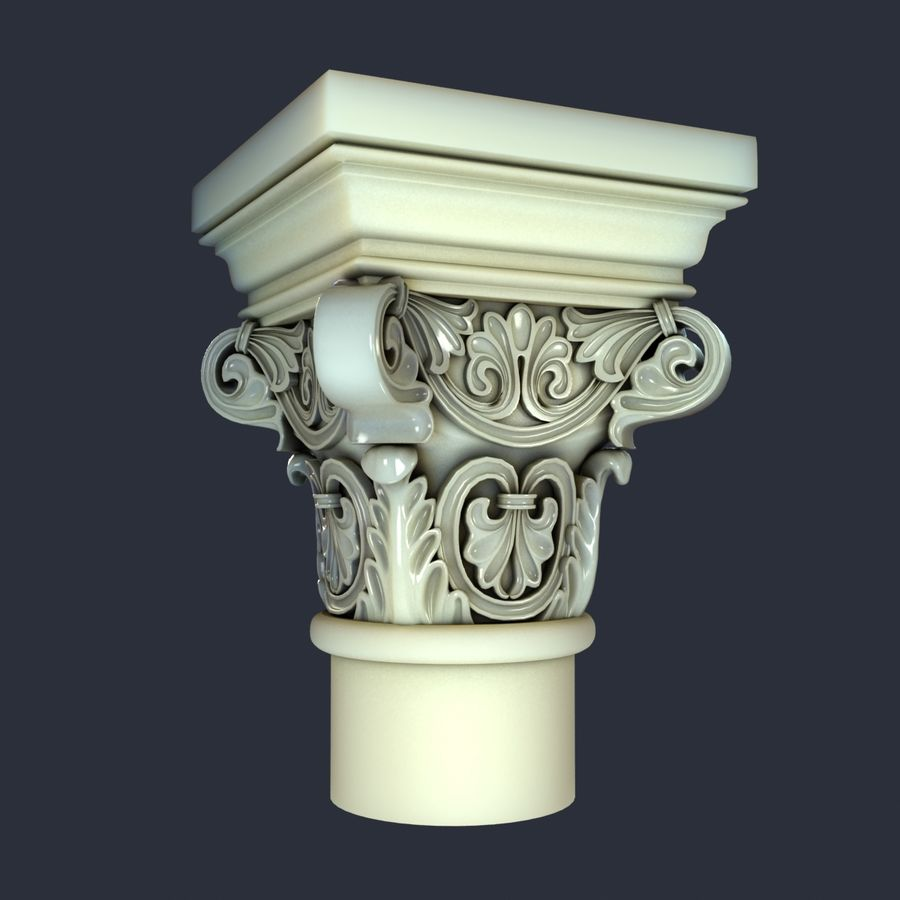 Capital-1 royalty-free 3d model - Preview no. 2