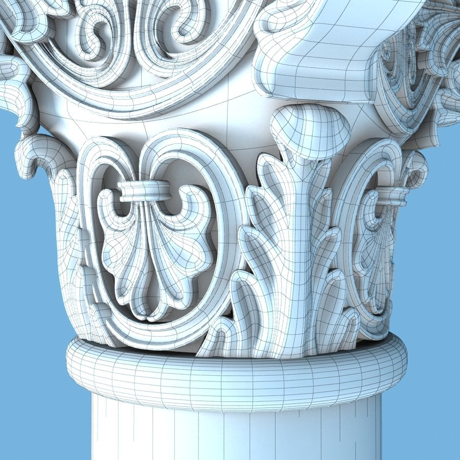 Capital-1 royalty-free 3d model - Preview no. 11