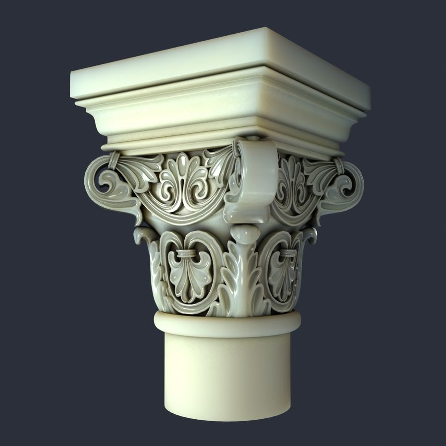 Capital-1 royalty-free 3d model - Preview no. 3