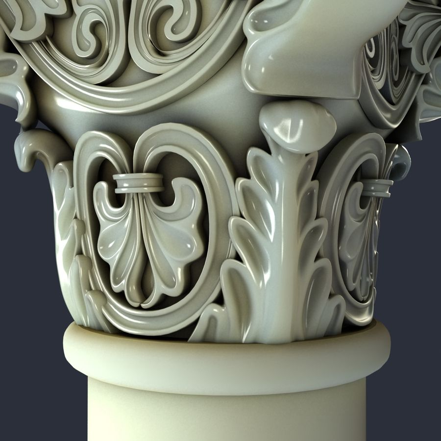 Capital-1 royalty-free 3d model - Preview no. 6