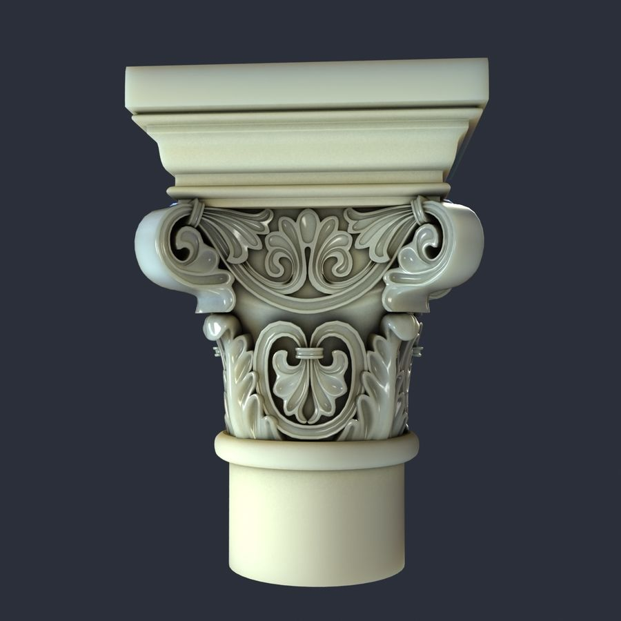 Capital-1 royalty-free 3d model - Preview no. 4