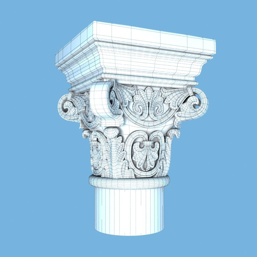 Capital-1 royalty-free 3d model - Preview no. 7