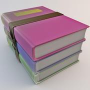 Icono de libros modelo 3d