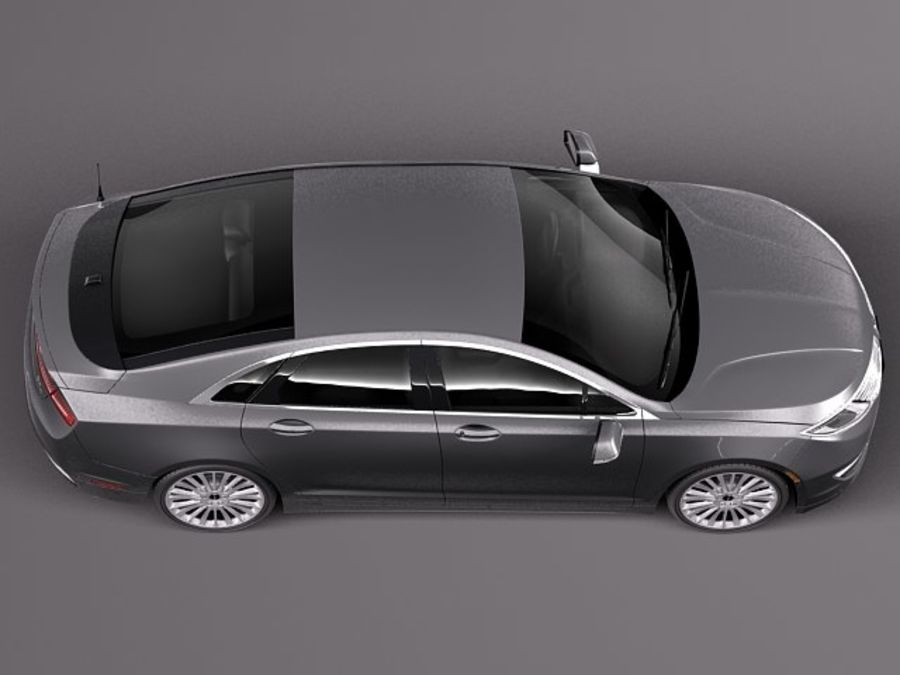Lincoln MKZ 2013 royalty-free 3d model - Preview no. 8