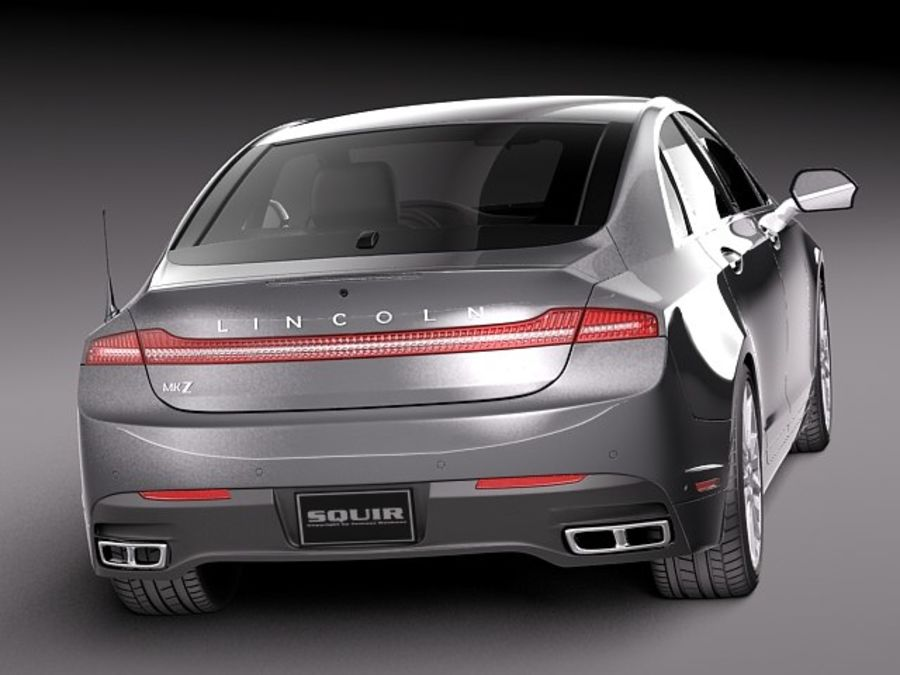 Lincoln MKZ 2013 royalty-free 3d model - Preview no. 6