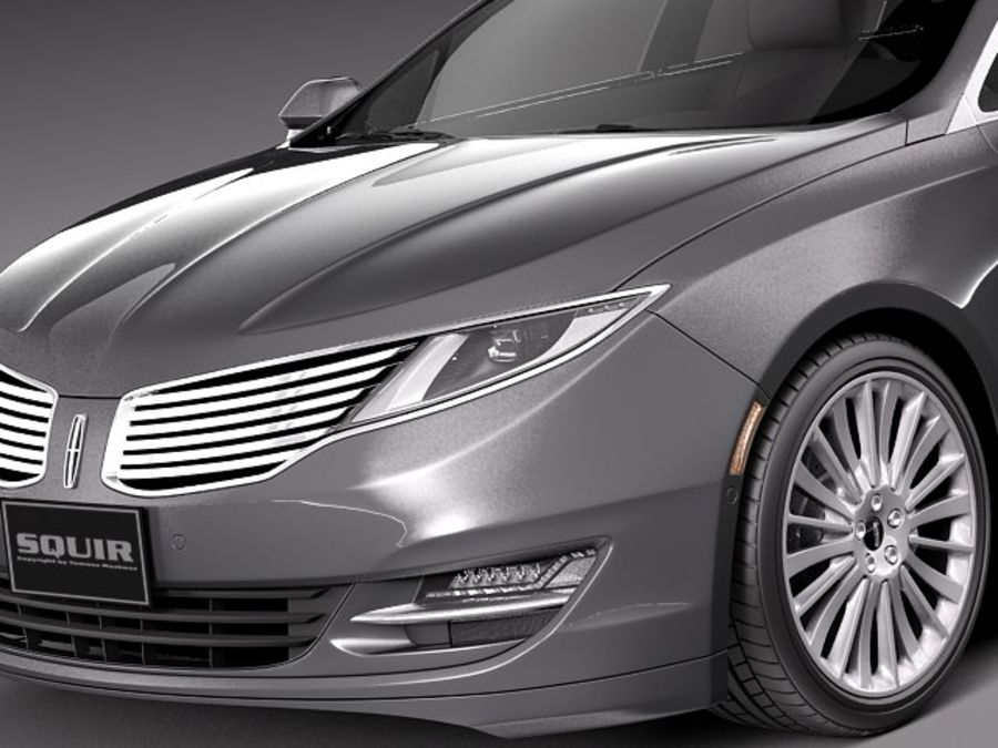 Lincoln MKZ 2013 royalty-free 3d model - Preview no. 3