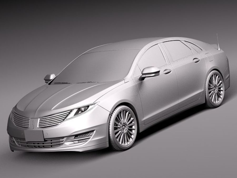 Lincoln MKZ 2013 royalty-free 3d model - Preview no. 9