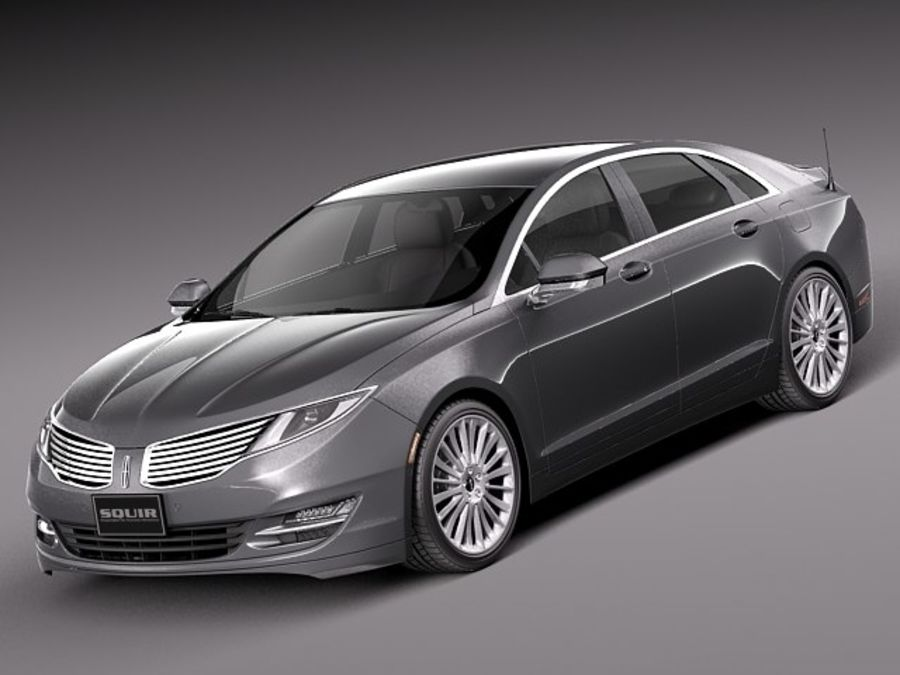 Lincoln MKZ 2013 royalty-free 3d model - Preview no. 1