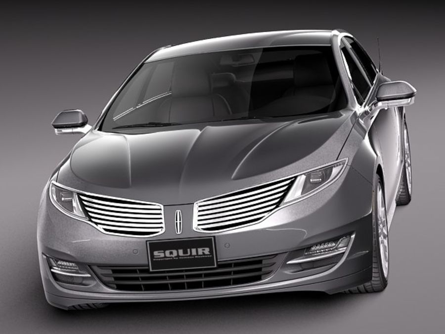 Lincoln MKZ 2013 royalty-free 3d model - Preview no. 2