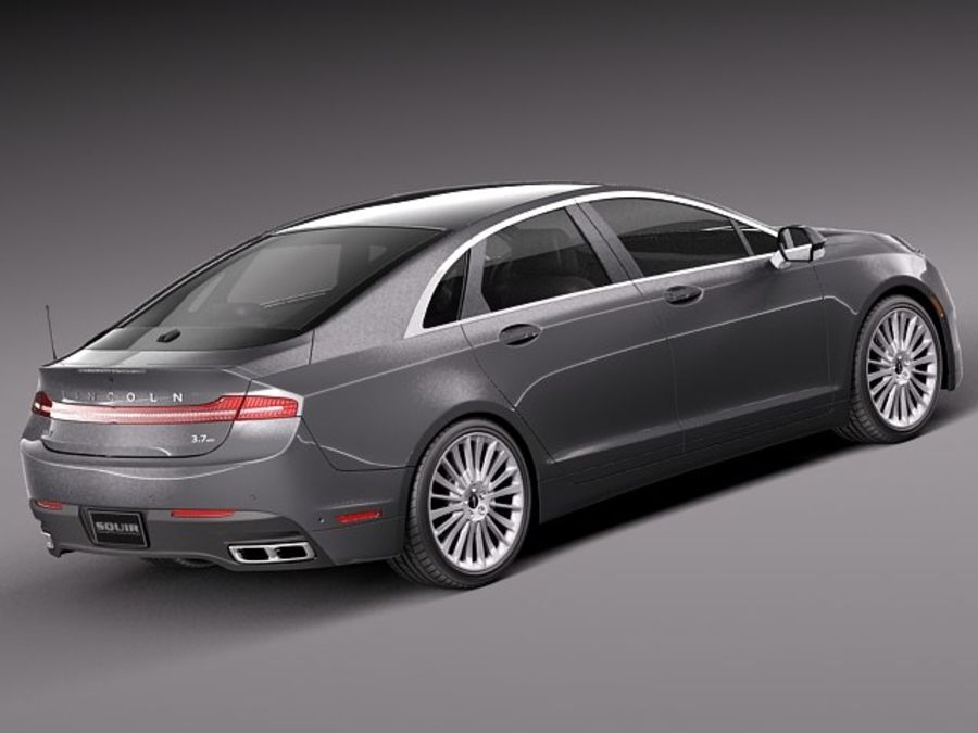 Lincoln MKZ 2013 royalty-free 3d model - Preview no. 5