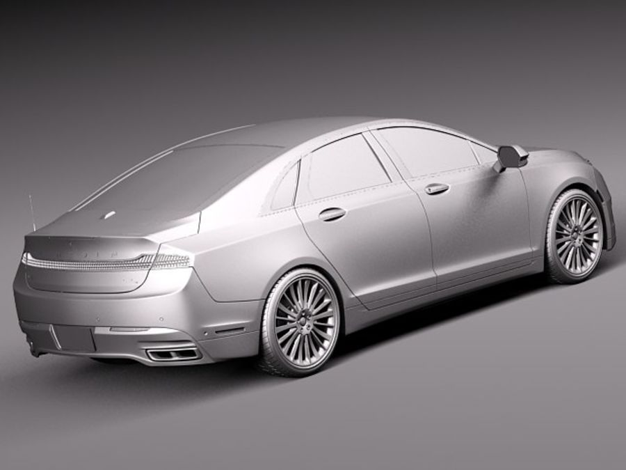 Lincoln MKZ 2013 royalty-free 3d model - Preview no. 12