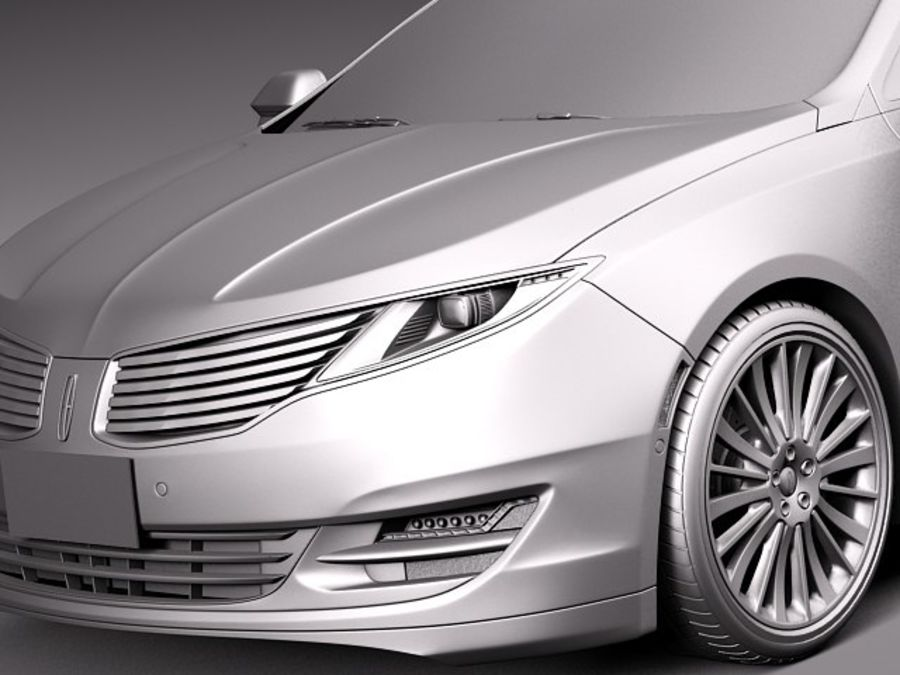 Lincoln MKZ 2013 royalty-free 3d model - Preview no. 10