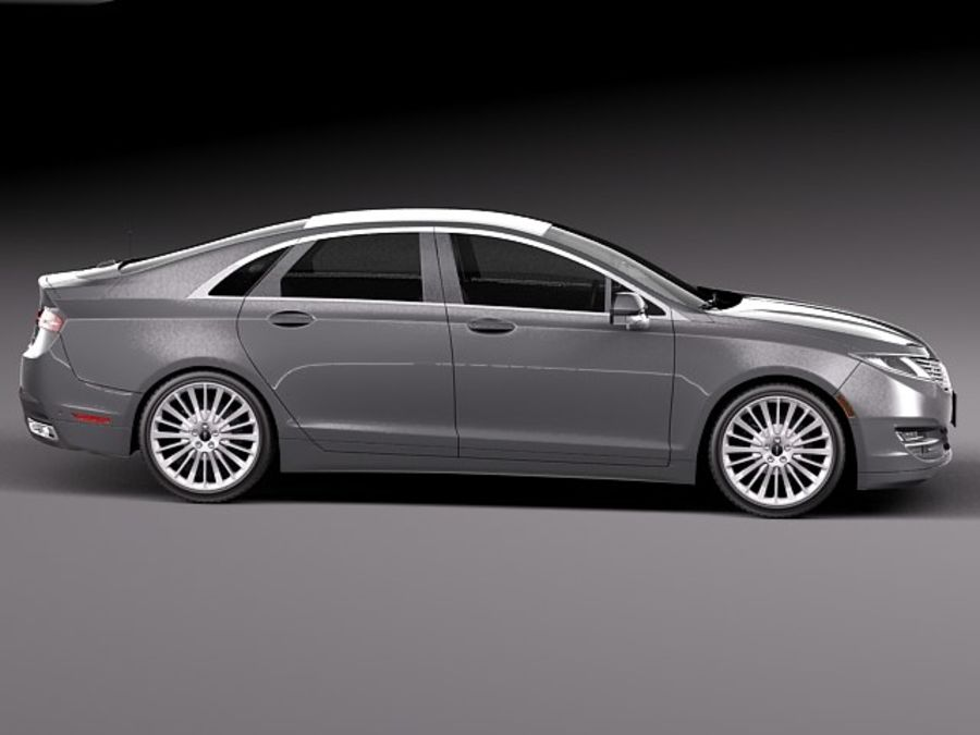 Lincoln MKZ 2013 royalty-free 3d model - Preview no. 7