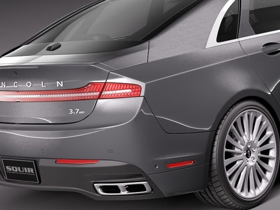 Lincoln MKZ 2013 royalty-free 3d model - Preview no. 4