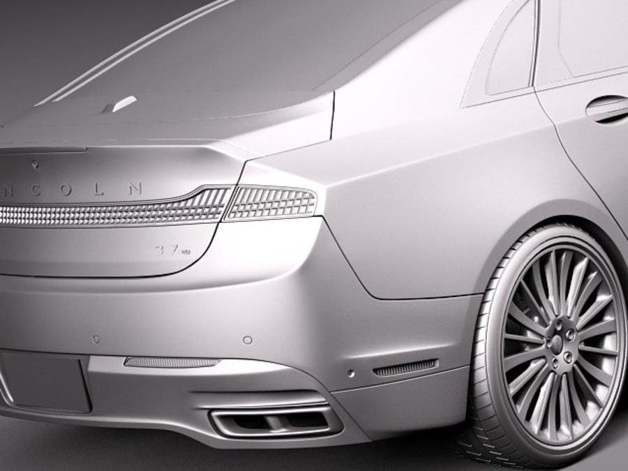 Lincoln MKZ 2013 royalty-free 3d model - Preview no. 11