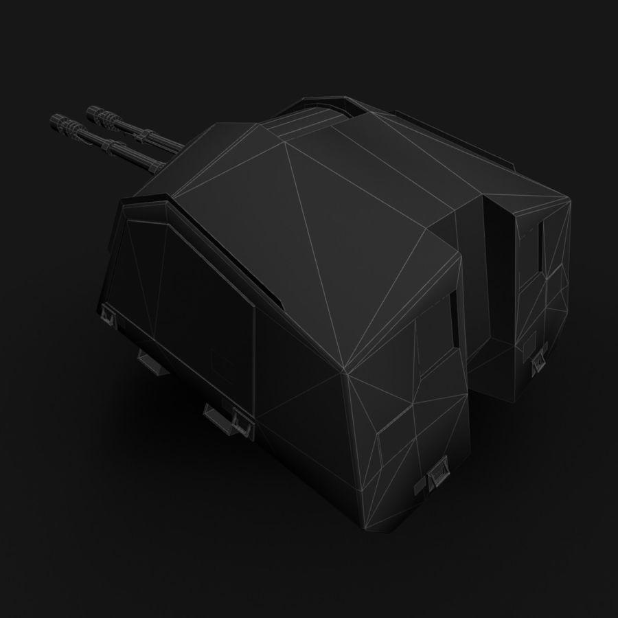 デネル35mmデュアルパーパスガン royalty-free 3d model - Preview no. 25