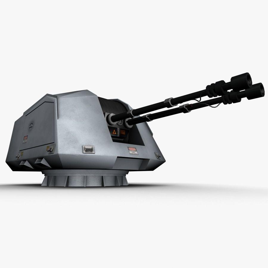 デネル35mmデュアルパーパスガン royalty-free 3d model - Preview no. 3