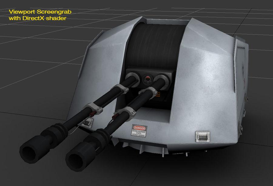 デネル35mmデュアルパーパスガン royalty-free 3d model - Preview no. 13