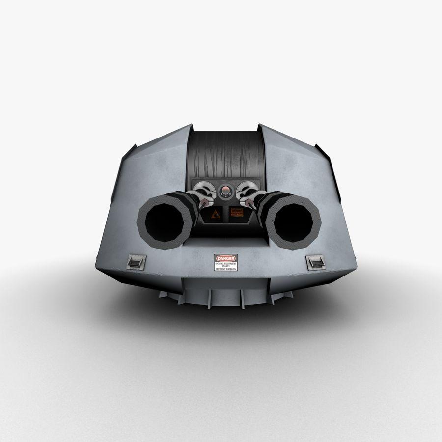デネル35mmデュアルパーパスガン royalty-free 3d model - Preview no. 8
