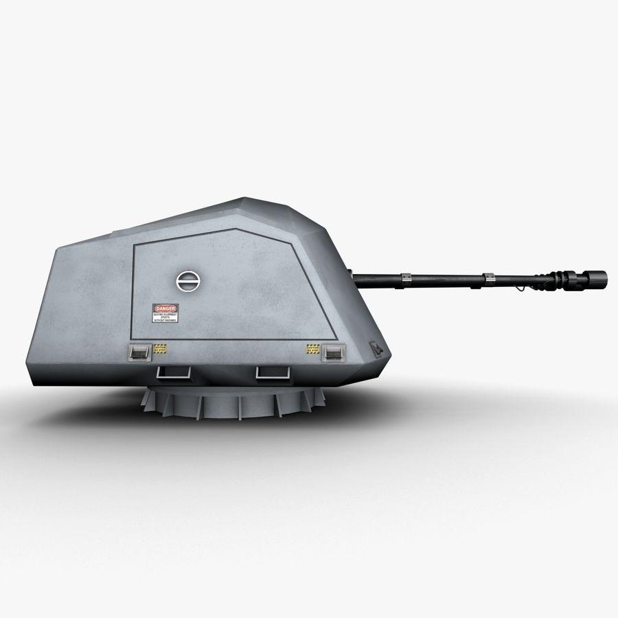 デネル35mmデュアルパーパスガン royalty-free 3d model - Preview no. 5