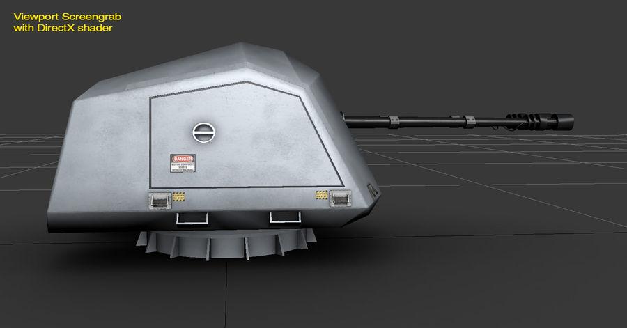 デネル35mmデュアルパーパスガン royalty-free 3d model - Preview no. 19