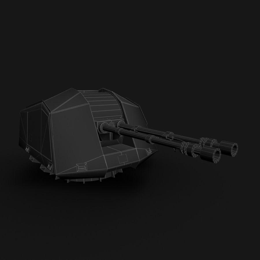 デネル35mmデュアルパーパスガン royalty-free 3d model - Preview no. 24