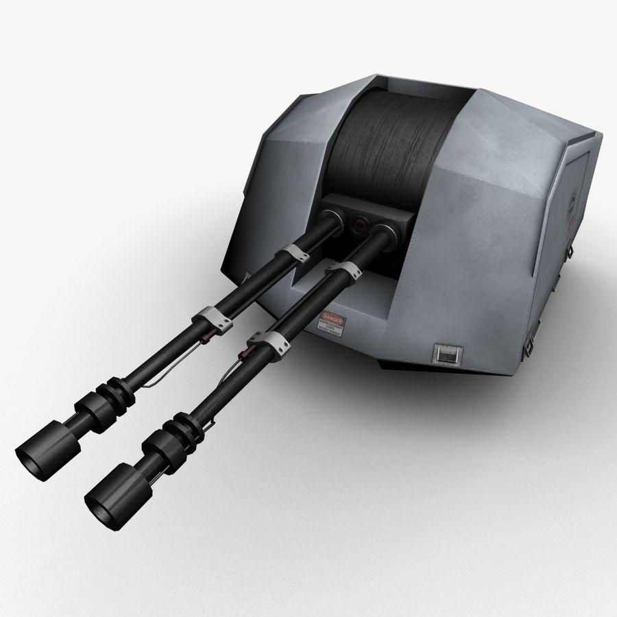 デネル35mmデュアルパーパスガン royalty-free 3d model - Preview no. 7