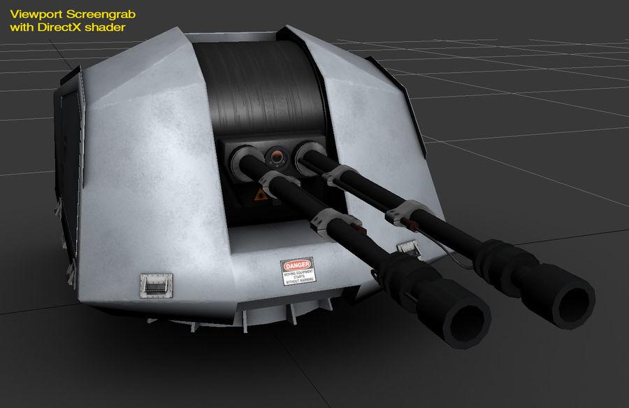 デネル35mmデュアルパーパスガン royalty-free 3d model - Preview no. 20